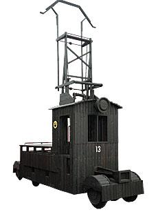 草軽電鉄で活躍した電気機関車「デキ12形」実物大模型(木製)